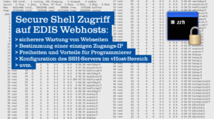 Secure Shell bei EDIS Webhosting