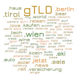 Riesenauswahl an neuen gTLD Domain-Endungen