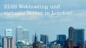 EDIS Webhosting jetzt auch in England!