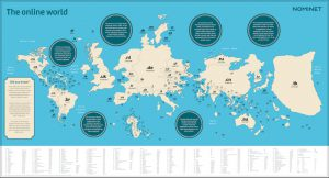 Die Online-Welt. Ein Blick auf die Menge der registrierten Domains.